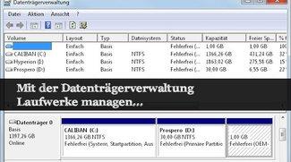Die Datenträgerverwaltung in Windows 7 bis Windows 10 öffnen