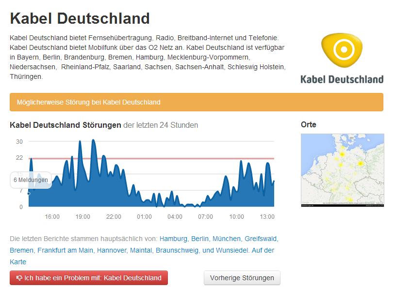 Kabel Deutschland Störung Osnabrück