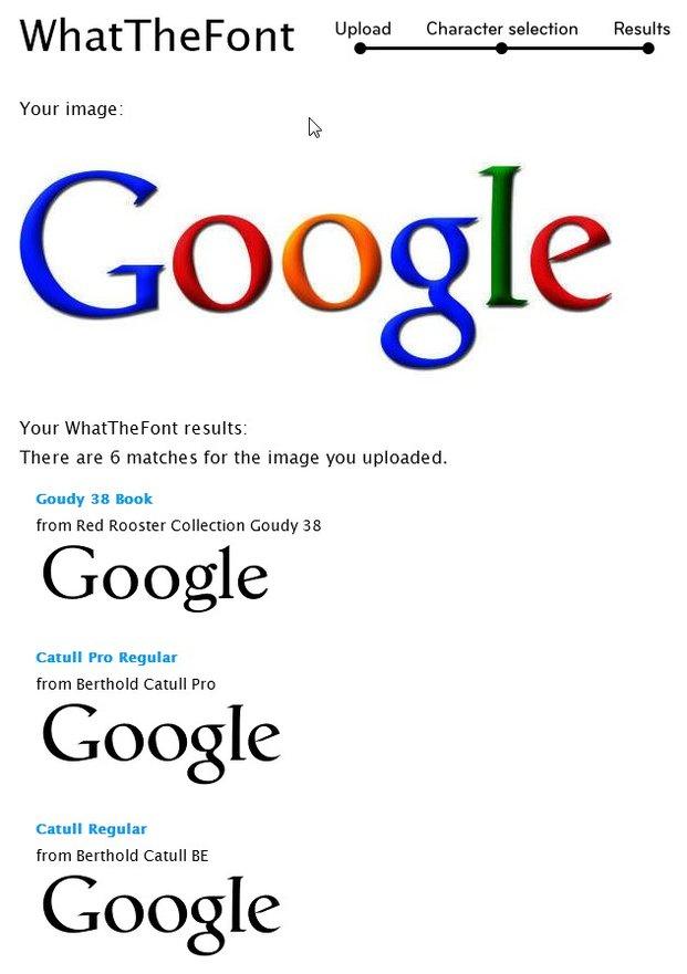 WhatTheFont konnte die Schriftart erkennen: Google verwendet Catull für sein Logo