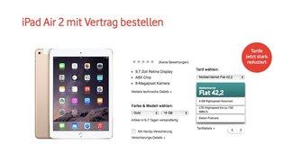 iPad Air 2 bei Vodafone ab sofort bestellbar