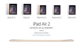 iPad Air 2, iPad mini 3 kaufen: Vorbestellen und Preise (Update: Jetzt bestellbar!)