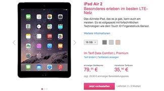 iPad Air 2 bei der Telekom ab sofort vorbestellbar