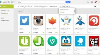 Play Store: Neuer Bewertungsfilter in der Suche zeigt auf Wunsch nur Apps mit 4 Sternen und mehr an