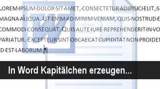 Praxistipp: In Word Kapitälchen erzeugen