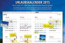 Urlaubskalender 2015