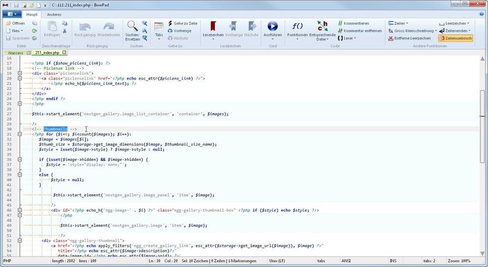 BowPad erinnert an Office-Programme