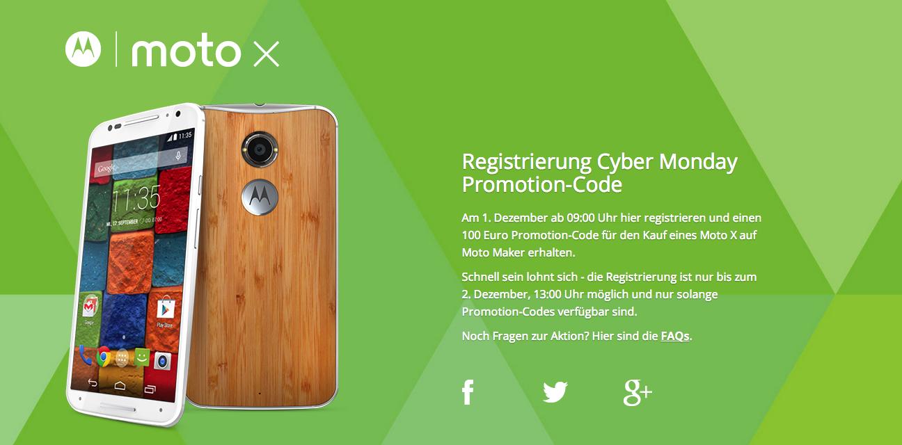 Moto X (2014): Moto Maker-Geräte heute 100 Euro günstiger [Deal, Update]