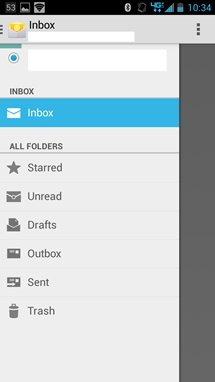 Mit der neuen Gmail-Style UI ist die Navigation der Android 4.4 E-Mail-App deutlich besser geworden