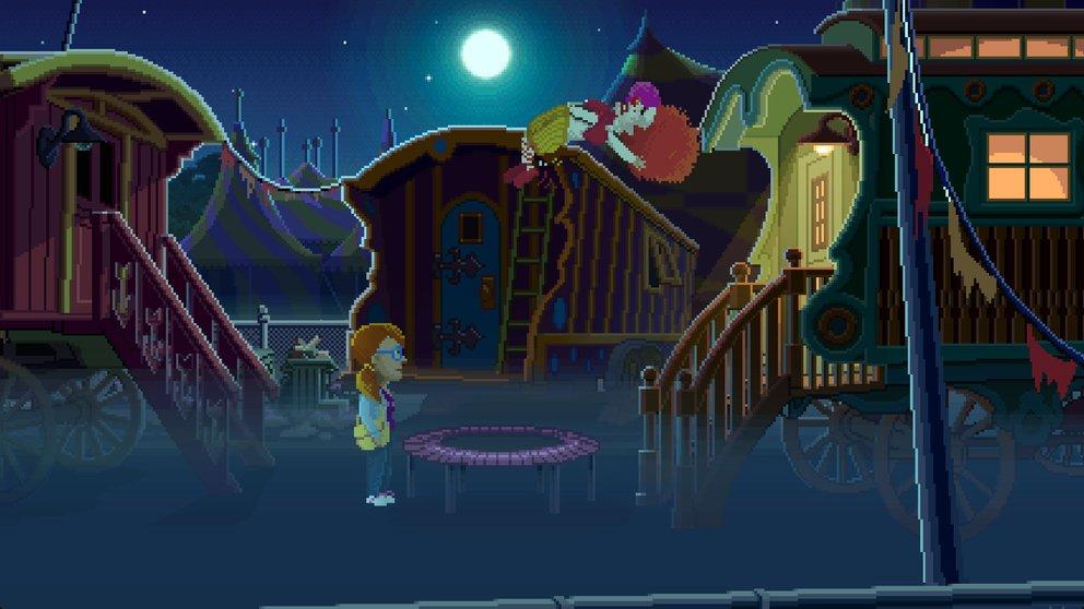 Für Menschen mit Clownphobie wohl eher nicht geeignet: Lernt Ransome in einem verlassenen Zirkus kennen.