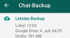 Lösung: WhatsApp-Backup hängt