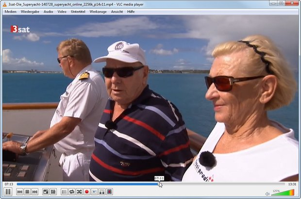Mit dem VLC Mediaplayer kann man sich den 3sat Mediatheken Download ansehen