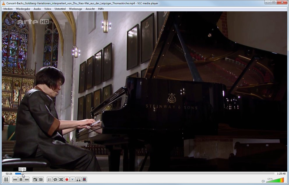 VLC kann die Dateien des ARTE Mediathek Downloads auch abspielen