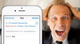 iOS 8: Falsch adressierte E-Mails vermeiden (Tipp)