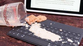 Logitech Keys-To-Go im Test: Spritzwassergeschützte iPad-Tastatur nicht nur für Schmutzfinken