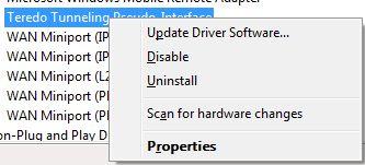 Скачать драйвер teredo tunneling pseudo interface для windows 7