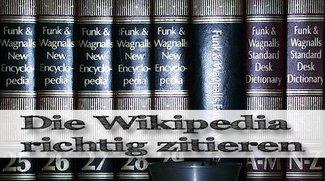 Wikipedia zitieren: So macht man es richtig