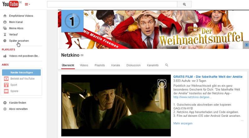 Gibt's es noch solche Angebote, wenn YouTube kostenpflichtig wird?