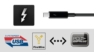 Thunderbolt: Adapter und Kabel für FireWire, USB 3.0, Ethernet etc. im Überblick