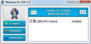 WebCam On – Off
