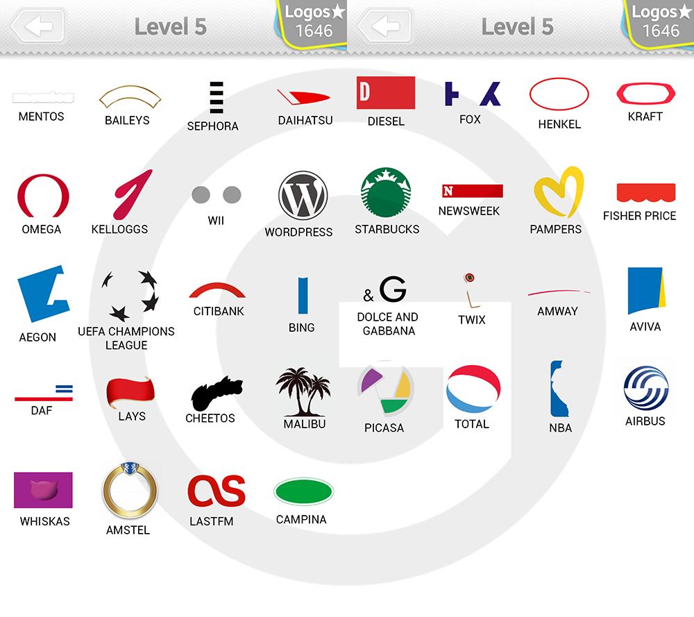 Extrêmement Logo Quiz Extra Levels Lösungen: Expert Level 5 - GIGA AD96