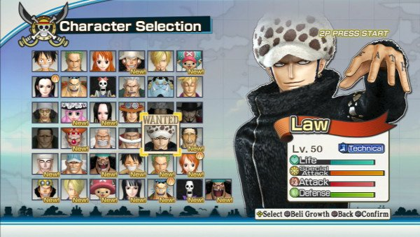 pirate warriors 3 kämpferauswahl law ist gewählt