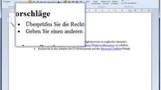 Bildschirmlupe unter Windows aktivieren und einsetzen