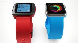 Pebble Time im direkten Vergleich mit der Apple Watch [Bilder]