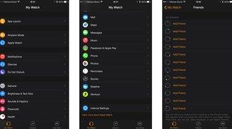 Apple Watch: Screenshots zeigen Companion App bei verbundener Uhr