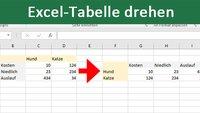 Excel-Tabelle drehen – so geht's