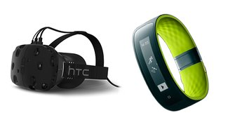 HTC: VR-Brille Vive und Wearable RE Grip vorgestellt