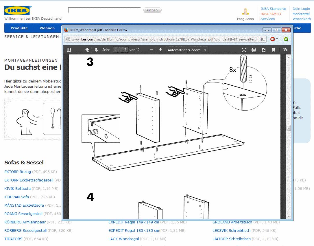 IKEA Anleitungen online für Schrank, Tisch und Co. als Download ...