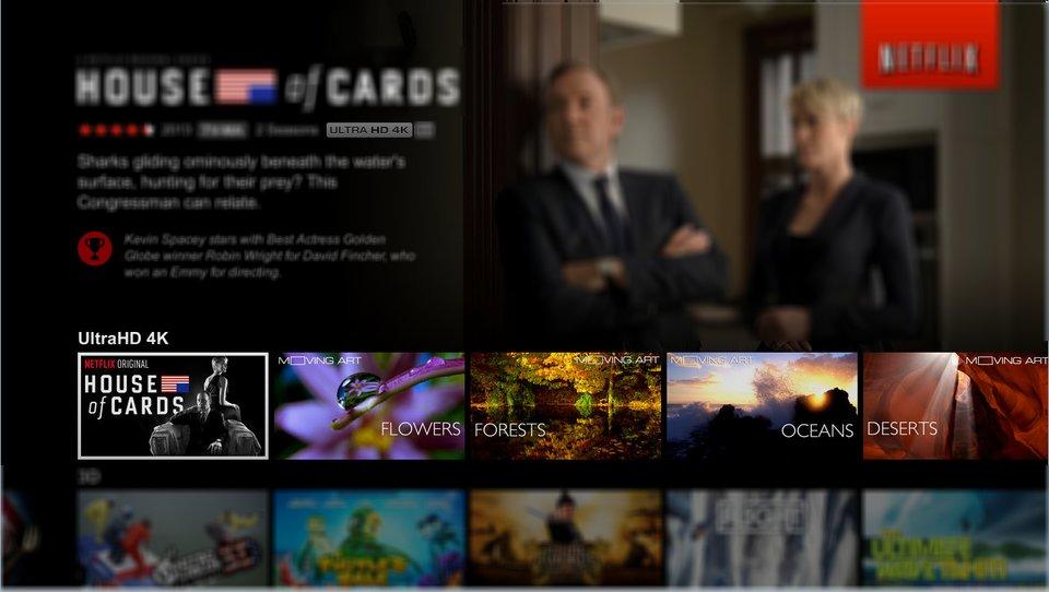 Hier zeigt euch Netflix die 4K-Inhalte an.