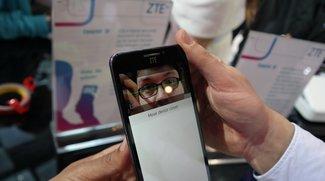 ZTE Grand S3: Smartphone mit Netzhaut-Scanner im Hands-On-Video [MWC 2015]