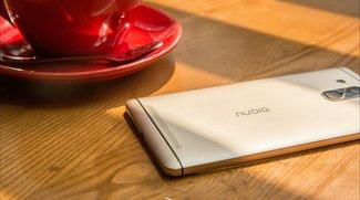 ZTE Nubia Z9: Beinahe rahmenloses Smartphone neben iPhone 6 abgelichtet