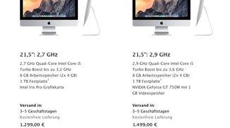 iMac: Lieferzeiten der 2013er Modelle verlängern sich