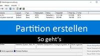 Partition erstellen – So geht's in Windows 10, 7, 8