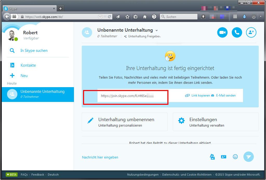 skype im browser nutzen: so geht's mit skype for web – giga, Einladung