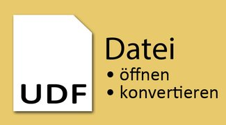 UDF-Datei öffnen – So geht's