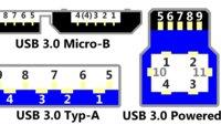 USB-Anschluss: Pinbelegung von USB A, B, C und Micro-USB