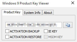 Windows Product Key Viewer liest den Key unter Windows 10 aus.
