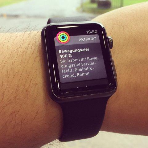 Apple Watch – Bewegungsziel