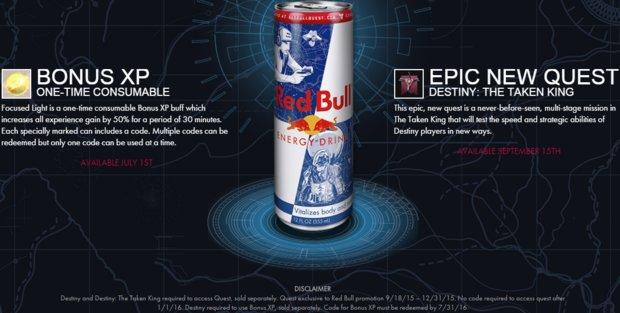 Destiny: Mehr Erfahrung und neue Quest durch Red Bull