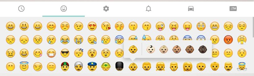 whatsapp f r android beta bringt hautfarben emoji und vulkanier gru giga. Black Bedroom Furniture Sets. Home Design Ideas
