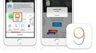 iOS 9: PDF speichern aus beliebigem Inhalt leicht gemacht (Tipp)