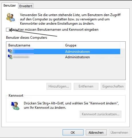 windows 10 passwort deaktivieren