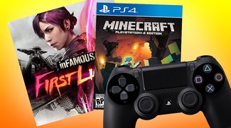 PS4 Controller + Infamous First Light + Minecraft (PS4) für 64,99 €