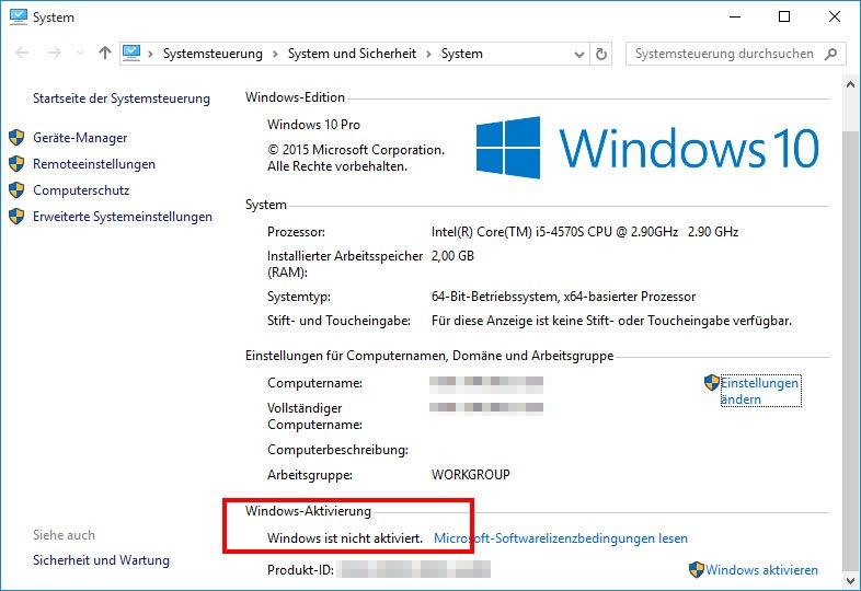 Windows 10 ist auf einmal nicht mehr aktiviert.