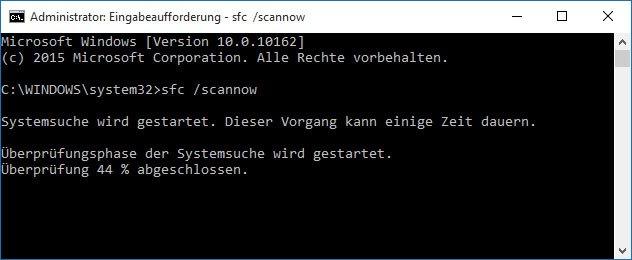 Windows 10: Das Tool SFC repariert Systemdateien.