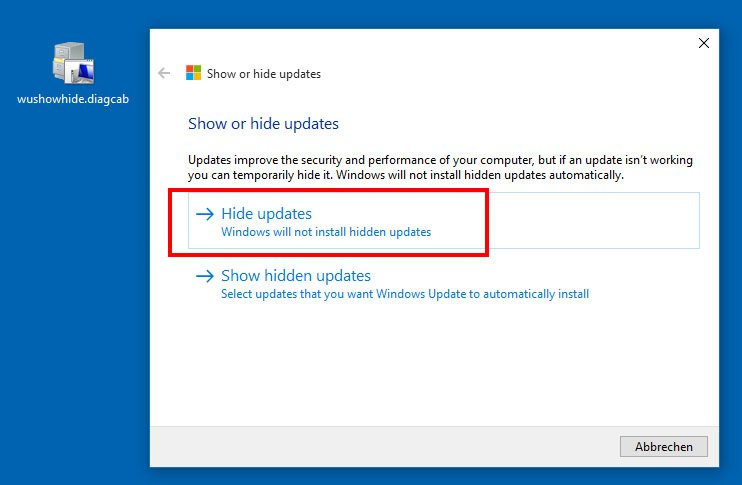 Show or Hide Updates: Mit dem Troubleshooter-Package versteckt und blockiert ihr in Windows 10 Updates.