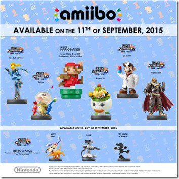 amiibo: Ab September neue Figuren